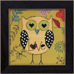AmyLee Weeks by Mill Hill - Owl Series - Love MAIN