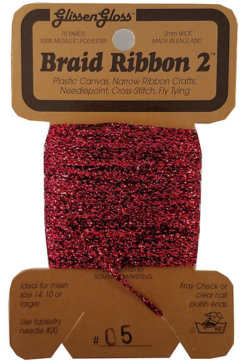 Braid Ribbon #2 Red (05) THUMBNAIL