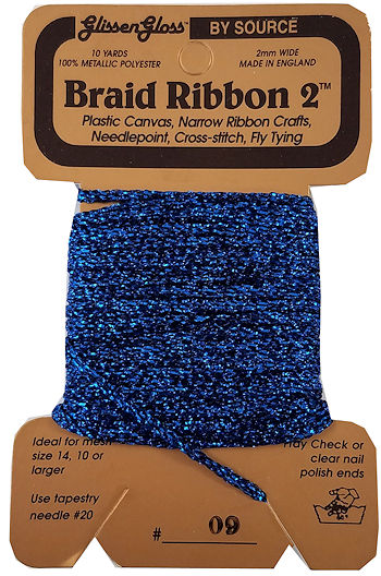 Braid Ribbon #2 Dark Blue (09) THUMBNAIL