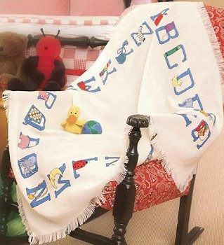 Baby Alphabet Afghan 18 Ct - Temporarily Out of Stock MAIN