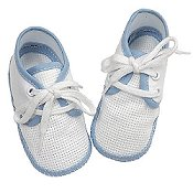 Baby Shoes w/ Blue Trim - Sold Out