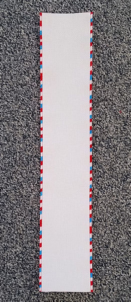 "14ct White Banding w/ Red, White & Blue Trim (3-3/4"" x 20"") THUMBNAIL"