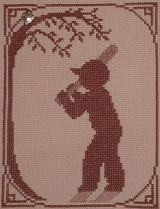 Handblessings Summer Silhouette Baseball Player