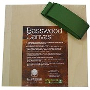 "Basswood Canvas Box w/ Ribbon - 8"" x 8"""