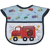 Quilted Baby Bib - Truck