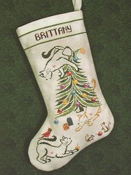 Brittercup Designs - Britty Kitty Christmas Stocking THUMBNAIL