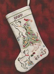 Brittercup Designs - Britty Puppy Christmas Stocking