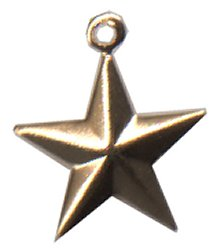 Charm Small Raised Star - Temporarily Out of Stock THUMBNAIL