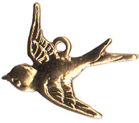 Charm Gold Swallow THUMBNAIL
