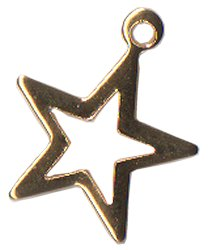 Charm Open Star Gold THUMBNAIL