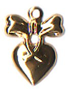 Charm Heart With Bow THUMBNAIL