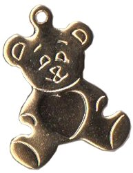 Charm Gold Teddy Bear THUMBNAIL