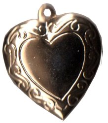 Charm Gold Heart Locket-Discontinued Sub w/ BE022 Silver Heart Locket