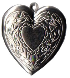 Charm Silver Heart Locket