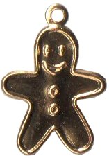 Charm Gold Gingerbread Man_THUMBNAIL