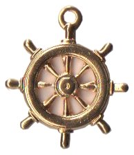 Charm Gold Naval Steering Wheel THUMBNAIL