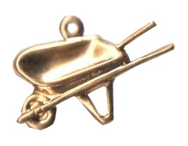 Charm Gold Wheelbarrow THUMBNAIL