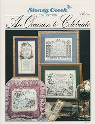 Front cover of Stoney Creek's Book 128 An Occasion to Celebrate with cross stitch for special occasions