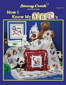 Front cover of Stoney Creek Book 176 Now I Know My ABC's baby afghan with cross stitch designs for alphabet