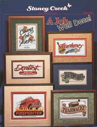 Cover photo of Stoney Creek Book 227 A Job Well Done featuring occupational cross stitch designs
