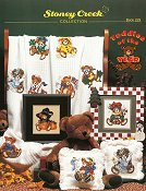 Cover photo of Stoney Creek Book 229 Teddies of the Year showing monthly teddy bear cross stitch designs
