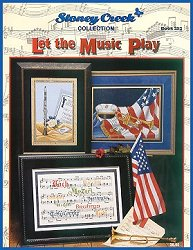 Cover photo of Stoney Creek Book 252 Let the Music Play showing cross stitched musical instruments