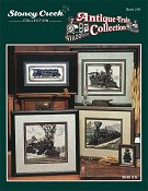 Cover photo of Stoney Creek Book 259 Antique Train Collection with cross stitched antique trains