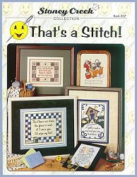 Cover photo of Stoney Creek Book 287 That's a Stitch! witty cross stitch sayings