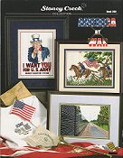 Cover photo of Stoney Creek Book 299 America at War cross stitch book_THUMBNAIL