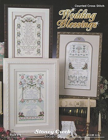 cover of Stoney Creek Cross Stitch Book 372 Marriage Blessings with wedding samplers