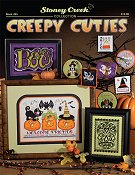 cover of Stoney Creek halloween cross stitch Book 495 Creepy Cuties THUMBNAIL