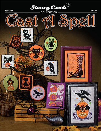 cover of Stoney Creek halloween cross stitch Book 496 Cast a Spell MAIN