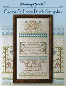 cover of Stoney Creek cross stitch book 498 Grace & Love Birth Sampler