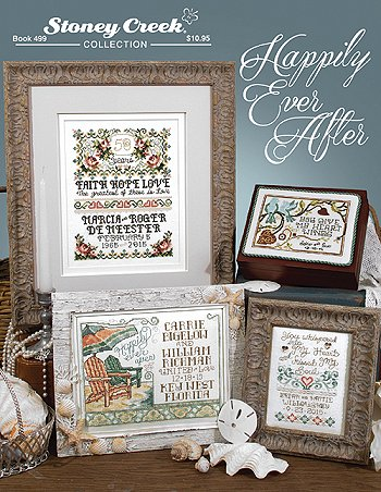 cover photo of Stoney Creek cross stitch Book 499 Happily Ever After wedding designs MAIN