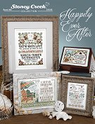 cover photo of Stoney Creek cross stitch Book 499 Happily Ever After wedding designs