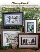 cover of Stoney Creek cross stitch book 505 Nature's Beauty featuring scenic patterns with birds, loons and a moose THUMBNAIL