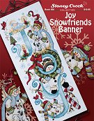 cover of Stoney Creek cross stitch book 506 Joy Snowfriends banner_THUMBNAIL