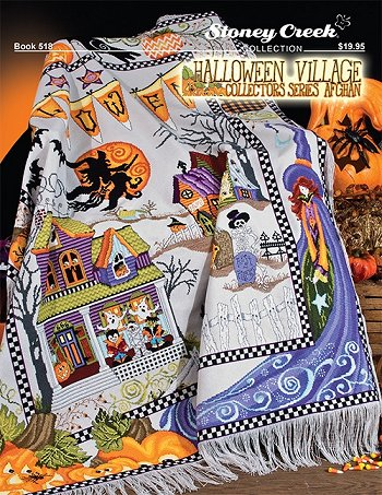 Book 518 Halloween Village Afghan