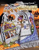 Book 518 Halloween Village Afghan THUMBNAIL