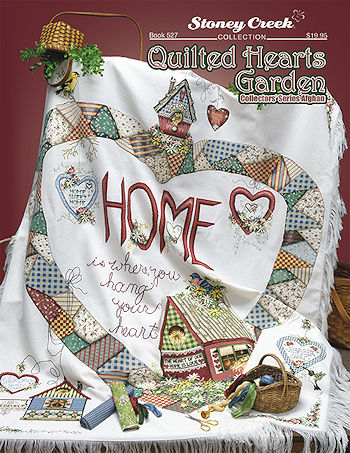 Book 527 Quilted Hearts Garden Afghan MAIN