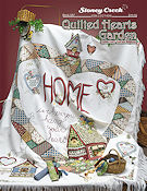 Book 527 Quilted Hearts Garden Afghan THUMBNAIL