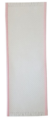Bookmark - 14ct White w/ Pink Variegated Trim (Discontinued - sub w/ Solid Pink Trim)
