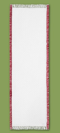 Bookmark - 14ct White w/ Red Trim