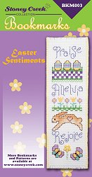 Bookmark Chart - Easter Sentiments