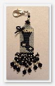 Fern Ridge Collections - Black and White Christmas Scissor Fob