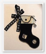 Fern Ridge Collections - Black and White Christmas Stocking THUMBNAIL