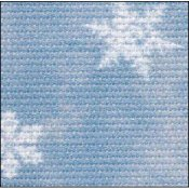 Fabric Flair Blue Classic Snowflakes w/ Silver Shimmer Aida 14ct