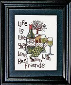 Bobbie G Designs - Good Wine Good Friends THUMBNAIL
