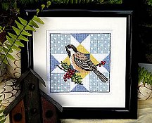 Bobbie G Designs - Star Quilt & Bird