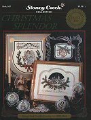 Cover photo of Stoney Creek Book 100 Christmas Splendor cross stitch designs including angels church ornaments and more